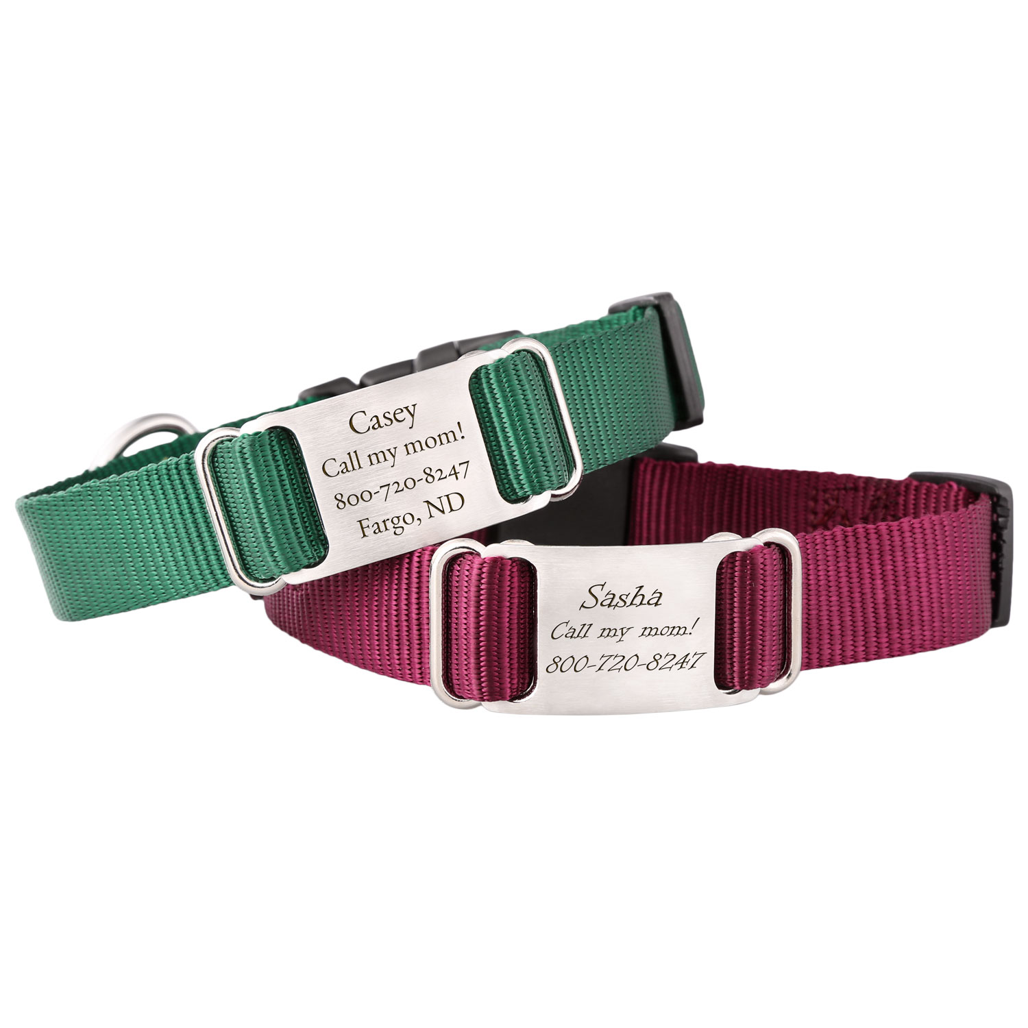 Nylon ScruffTag Personalized Dog Collar