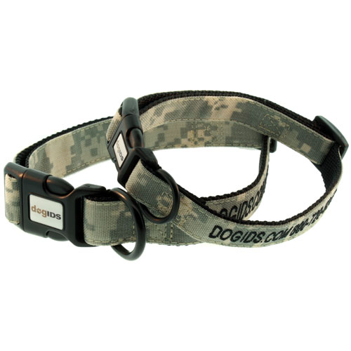 Embroidered Digital Camo Personalized Dog Collar
