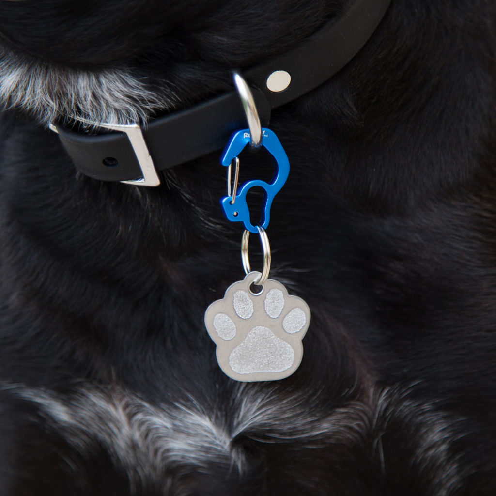 These rubit tag holders are a great way to easily change out your pet's tag.