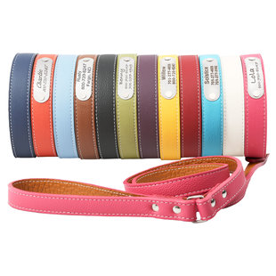 Colorful Italian Leather Dog Collars!
