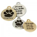 dogIDs Signature Paw Print Tags are fun and incredibly durable!