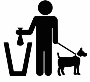 Pick up dog waste symbol