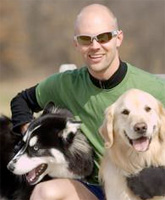 Jeff with two dogs