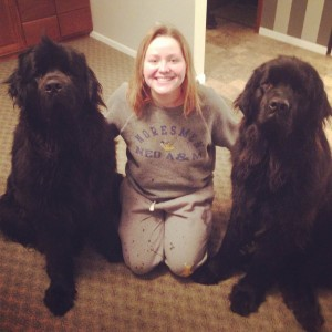 Cortney and her dogs