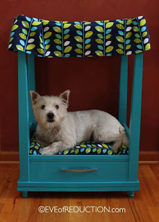Sewing Cabinet Turned into Pet Bed