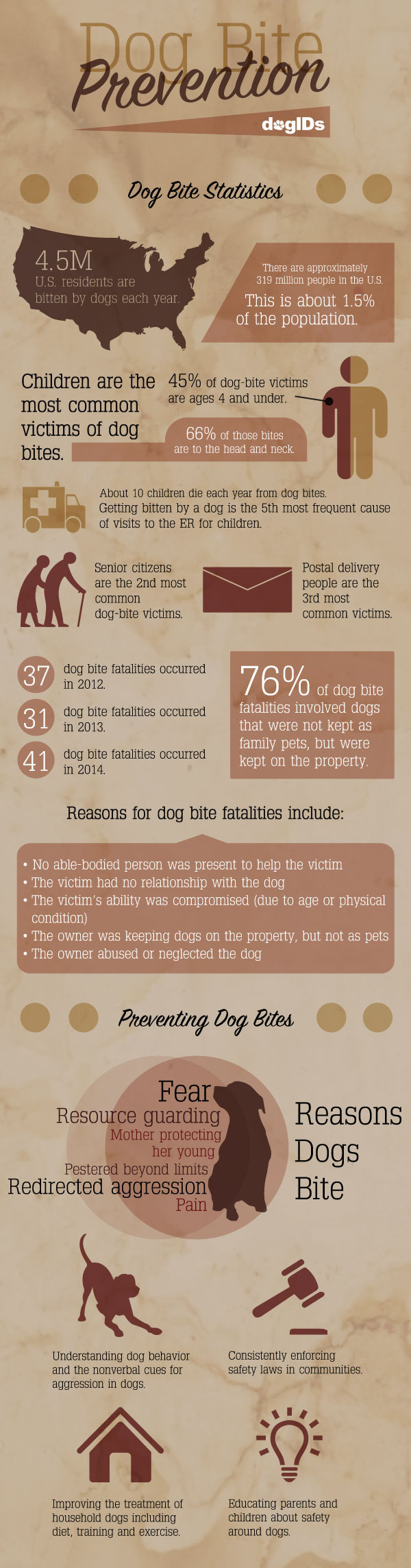 Dog Bite Prevention Infographic