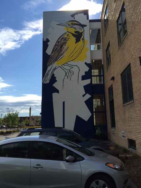 Mural on the outside of the dogIDs' office building