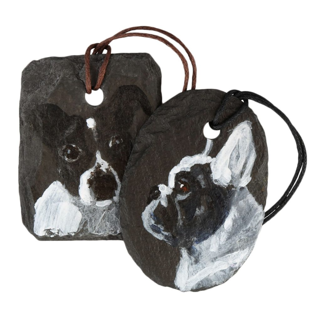 Slate Paintings for a necklace
