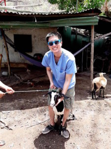 World Vets Student with Goat