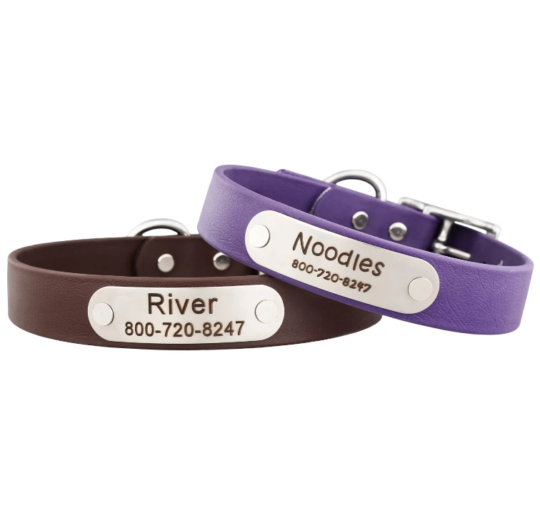 Waterproof Collars with Nameplate