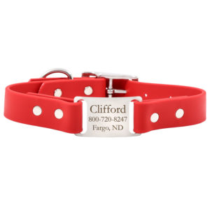 Red ScruffTag Soft Grip Collar