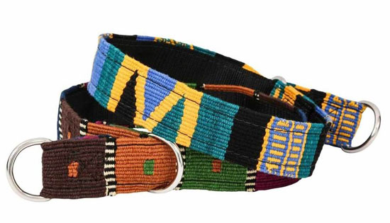 thick embroidered slip collar for dogs